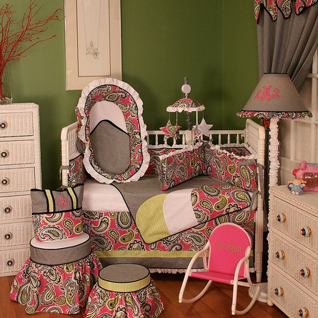 Pink Whimsy Crib Bedding Set