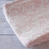 Pink & White Lace Damask Changing Pad Cover
