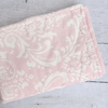 Pink & White Lace Damask Crib Blanket