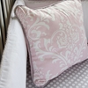 On Sale Pink & White Lace Damask Square Throw Pillow