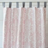 Pink & White Lace Damask Window Panels