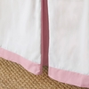 Coral Pink Windowpane Bed Skirt