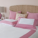 Pink Windowpane Duvet Cover