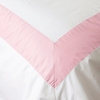 Coral Pink Windowpane Duvet Cover