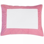Pink Windowpane Pillow Sham