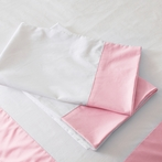 Coral Pink Windowpane Pillowcase Set