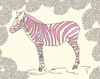 Pink Zebra Canvas Wall Art