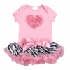 Pink Zebra Love Tutu Set