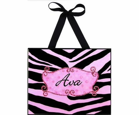 Pink Zebra Wall Art