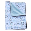 Blue Circle Dot Piped Baby Blanket