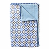 Ikat Blue Diamond Piped Baby Blanket