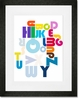 Pipeline Alphabet Framed Art Print