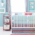 Piper in Aqua Crib Bedding Set
