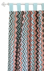 Piper in Aqua Curtain Panels - Set of 2