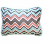 Piper in Aqua Throw Pillow