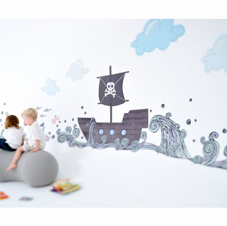 Pirate Boat Fabric Wall Decals