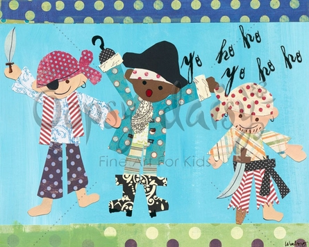Pirate Boys Canvas Wall Art