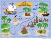 Pirate Pete's Treasure Map Paint by Number Wall Mural