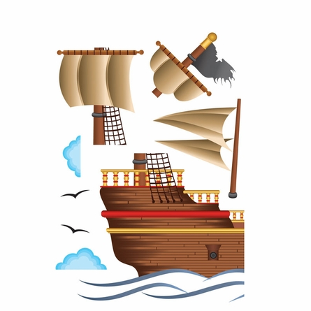 Pirate Ship Wall Decals