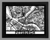 Pittsburgh Framed City Map