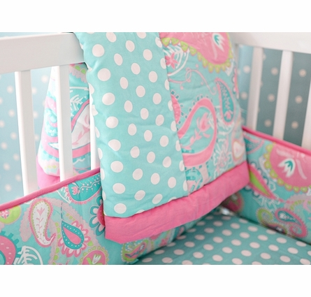 Pixie Baby Crib Bedding Set in Aqua