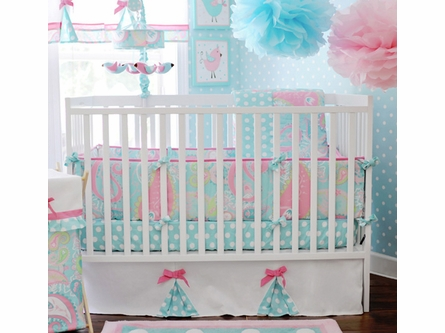 Pixie Baby Crib Bumper in Aqua