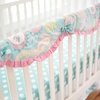 Pixie Baby in Aqua Crib Rail Cover