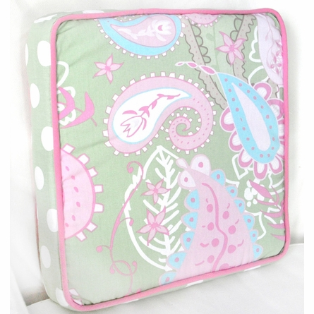 Pixie Baby Throw Pillow in Pink