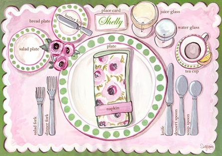 Place Setting - Boy Placemat
