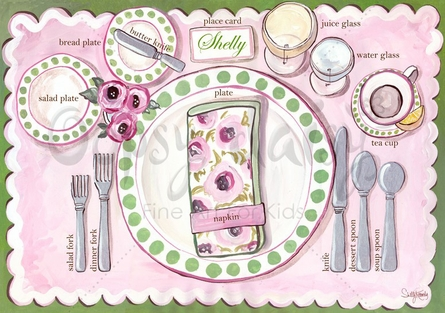Place Setting - Girl Placemat