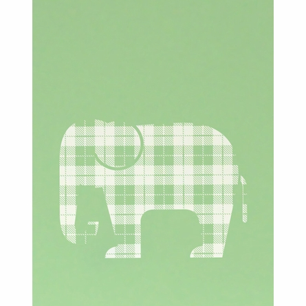 Plaid Elephant Art Print