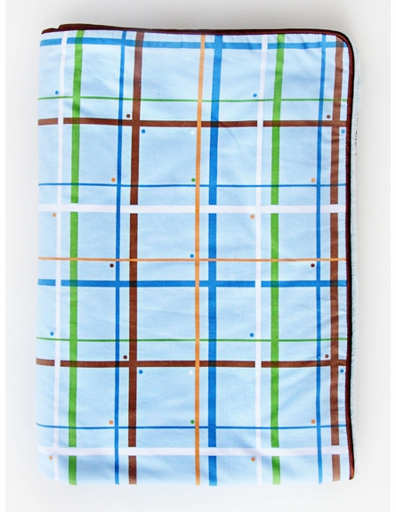 Plaid Piped Blanket - Boutique Collection