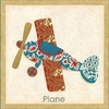 Plane Patchwork Transportation Canvas Reproduction
