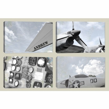 Plane Propellers Canvas Reproduction