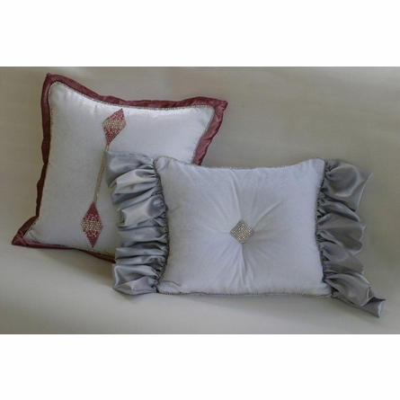 Platinum & Diamonds Pink Throw Pillow