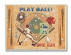 Play Ball Home Run Diamond Field Wall Plaque