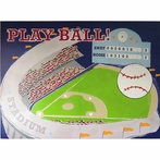 Play Ball Stadium Canvas Wall Art