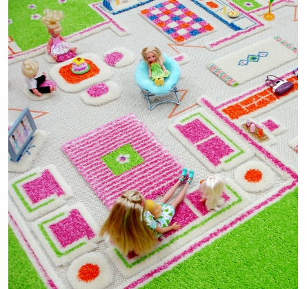 Play House Green Play Carpet
