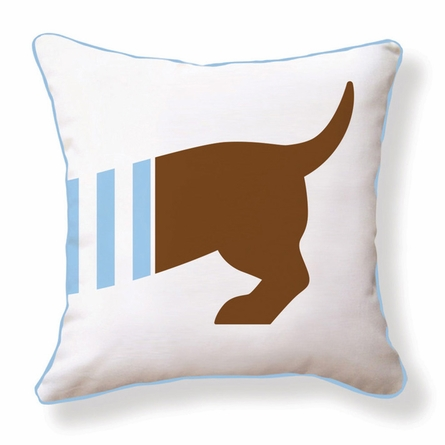 Playful Doxie Reversible Throw Pillow