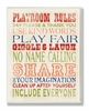 Playroom Rules Typography Wall Plaque