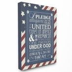 Pledge of Allegiance Typography Canvas Wall Art