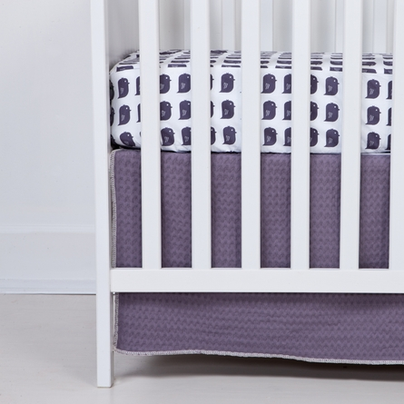 Plum Bird Fitted Organic Crib Sheet