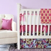 Plum Crazy Flat Skirt Crib Bedding Set