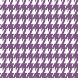 Plum Houndstooth