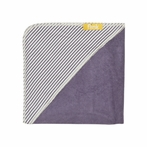 Plum Stripe Organic Hooded Towel