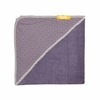 Plum Waffle Knit Organic Hooded Towel