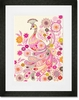 Plumes and Blooms Framed Art Print