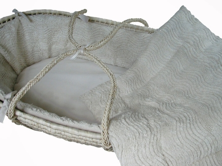 Plush Chenille Moses Basket Set