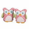 Plush Fuchsia Tiger Lily Owl Bookends