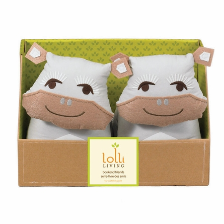Plush Hippo Bookends